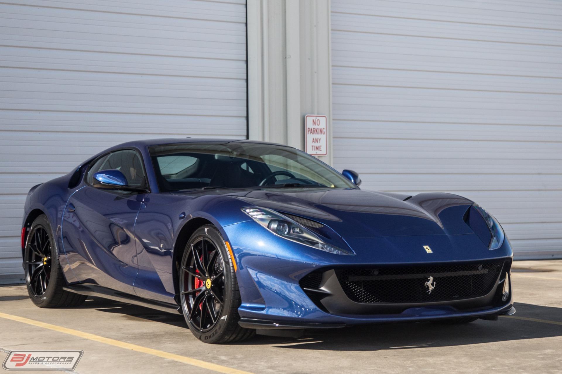 Used 2018 Ferrari 812 Superfast Tdf Blue W Blue Sterling Chocolate For Sale 414 000 Bj Motors Stock 2j0235471