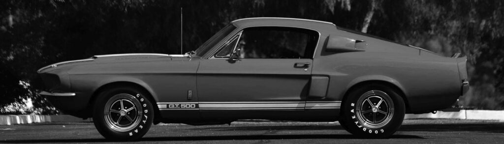 1967 Ford Mustang Shelby GT Greyscale Profile