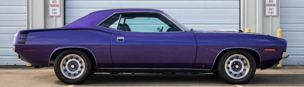 1970 Plymouth Cuda Purple Side view